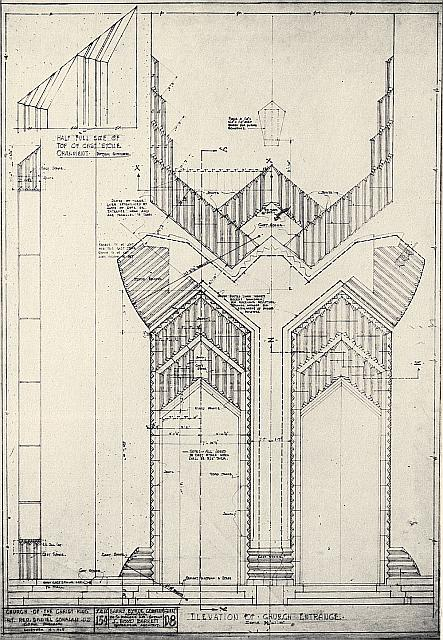 Elevation Plan Description : Entrance elevation medium church of christ the king